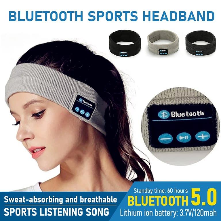 Fone de Ouvido Bluetooth Bandana – Conforto na hora do seu exercício, na sua cama e no seu dia a dia!
