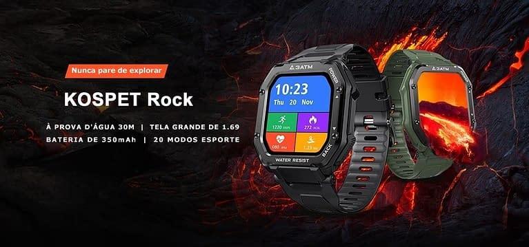 Relógio Smart Watch A Prova Dágua e Pancadas 2021 – Kospet Rock