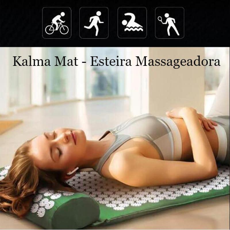 Kalma Mat – Massageador AccuPressure – cabeça, costas, pescoço, pé – – Kit completo com almofada e esteira