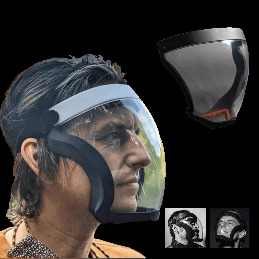 Mascara Hibrida Facial Shield Respingos Isolamento Protetor