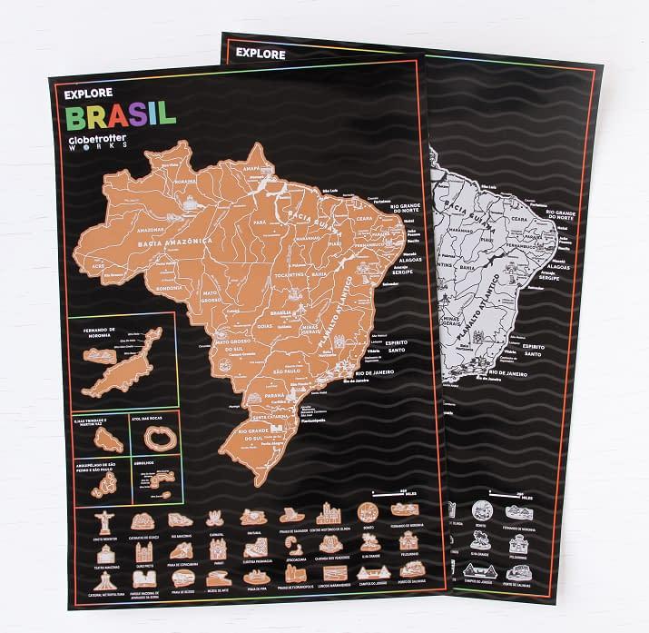 Mapa de Viagem do Brasil – Marque os locais que você ja visitou!