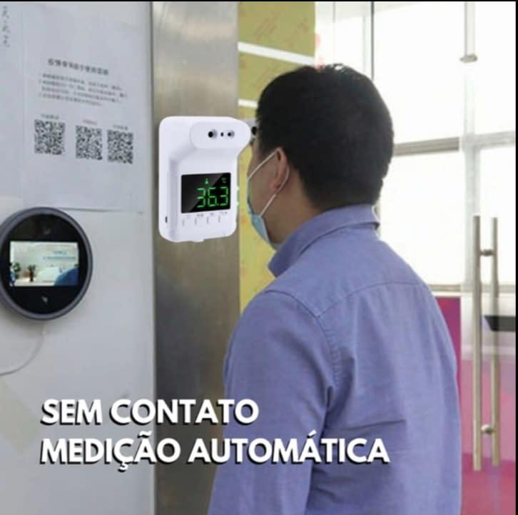 Termômetro Infravermelho De Parede Sem Contato Digital Sensor De Temperatura Termômetro De Testa Para Adultos Com Tela Lcd Bateria Usb Escritório Em Casa Supermercado Escola