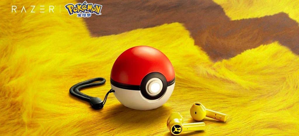 Razer lança fone de ouvido sem fio do Pikachu que carrega em uma Pokebola
