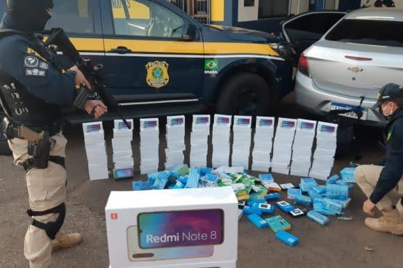 VÍDEO: PRF apreende R$ 150 mil em eletrônicos que viriam para Santa Cruz - GAZ